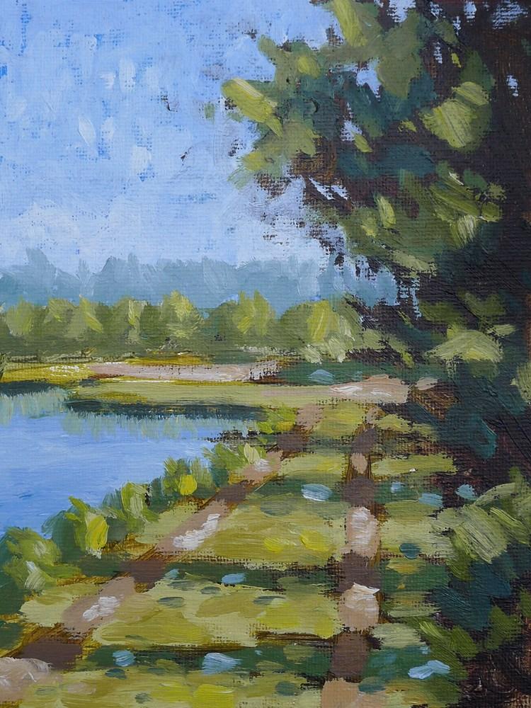 """Egan's Creek Greenway IV"" original fine art by Adam Houston"