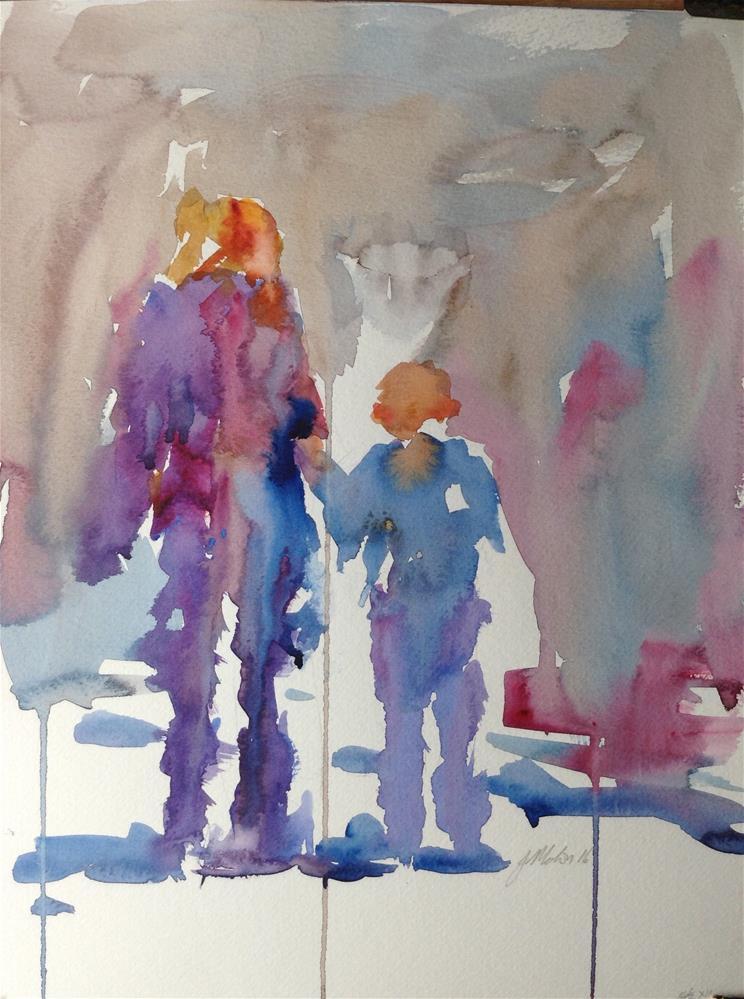 """First day of school"" original fine art by Joseph Mahon"