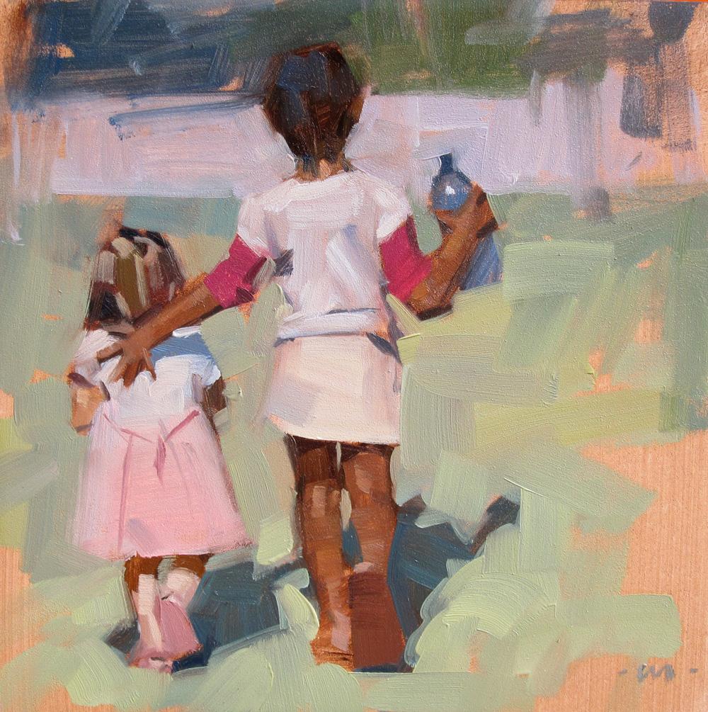 """""""A Helping Hand"""" original fine art by Carol Marine"""