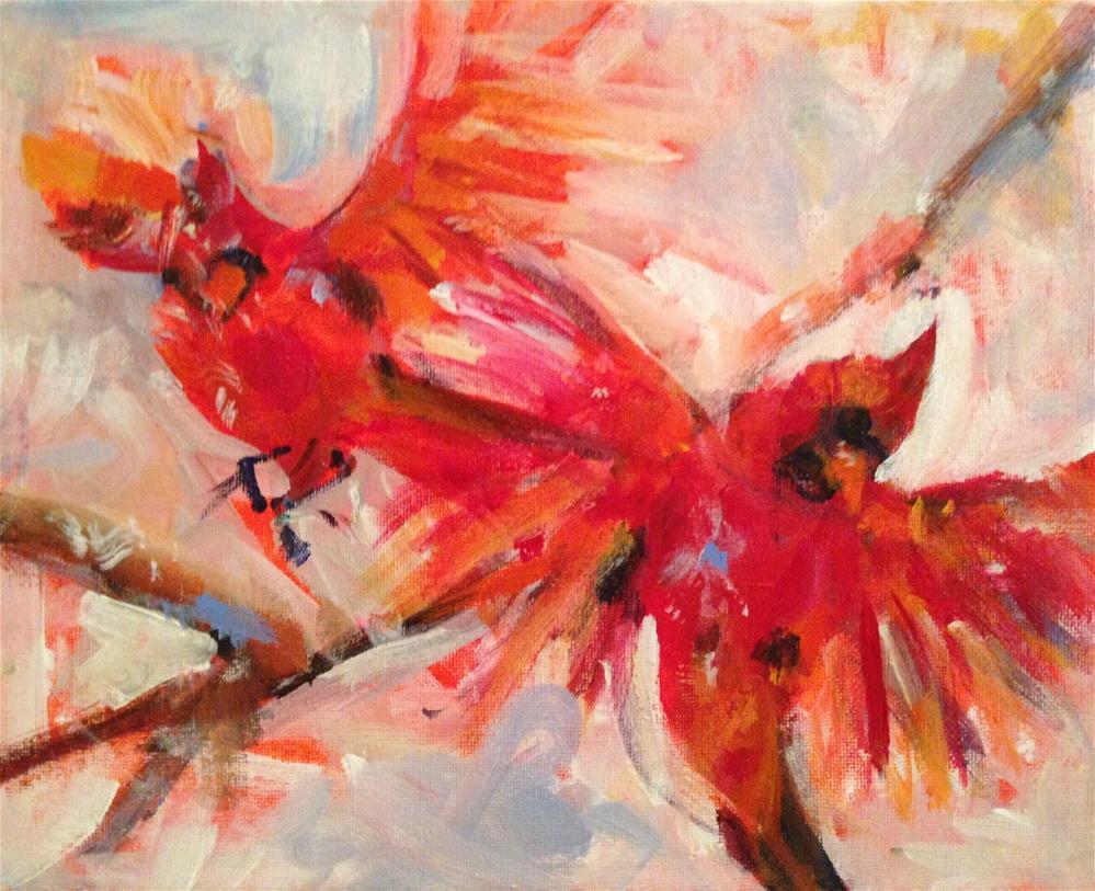"""Snow birds"" original fine art by Molly Wright"