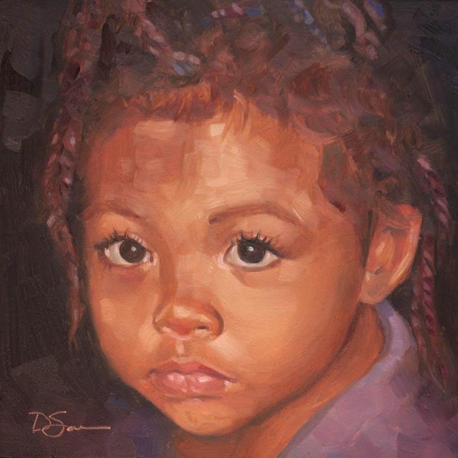 """""""Eyes of Love No.28 Teekah"""" original fine art by Deborah Savo"""