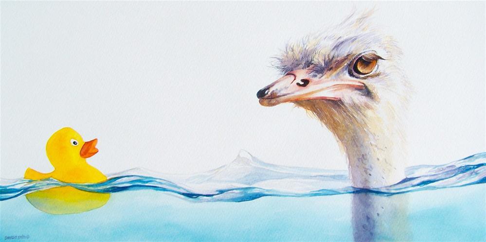 """ THE DEEP END "" original fine art by Dwight Smith"