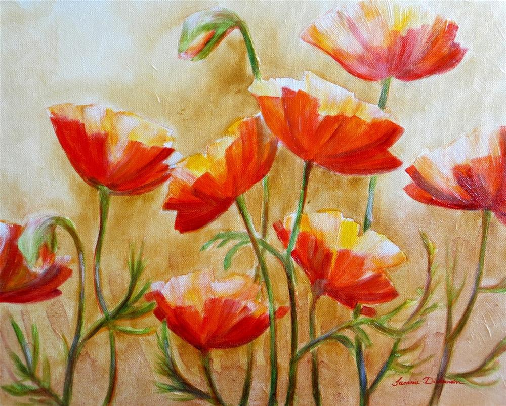"""Wine Party Poppies"" original fine art by Tammie Dickerson"