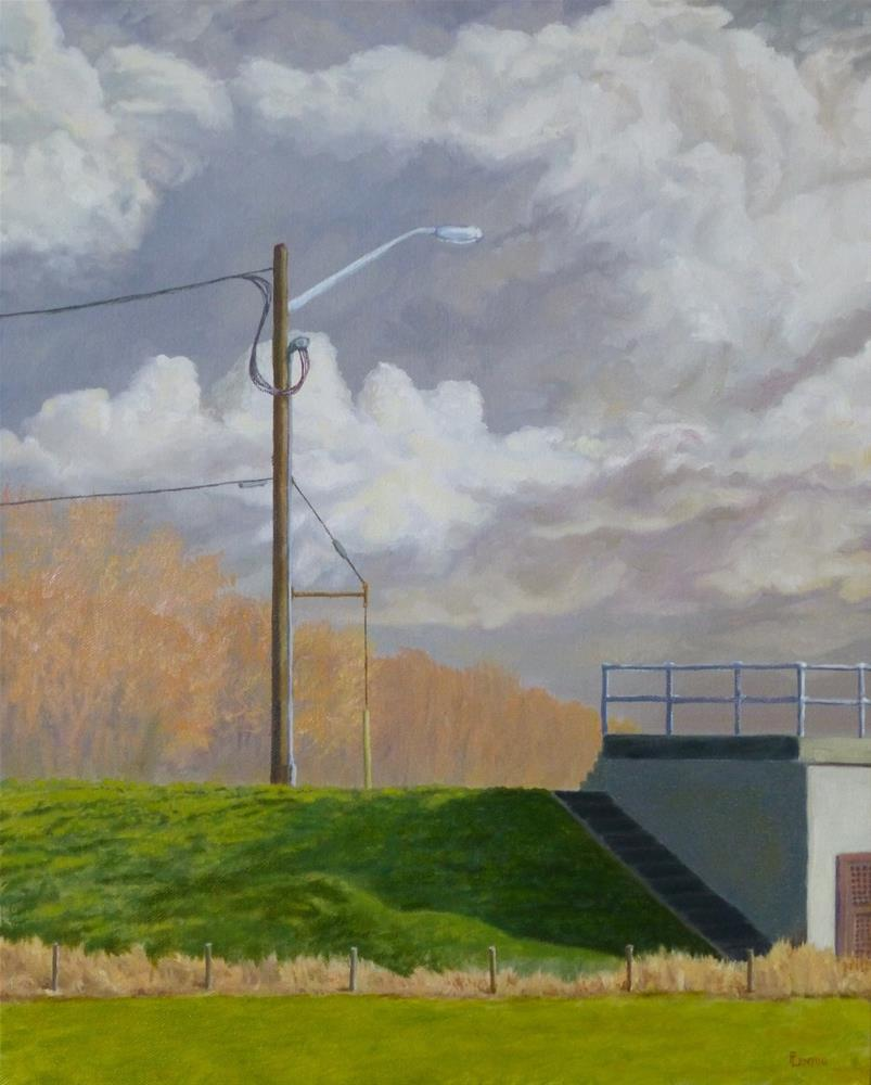 """March Morning Pumping Station"" original fine art by Peter Lentini"