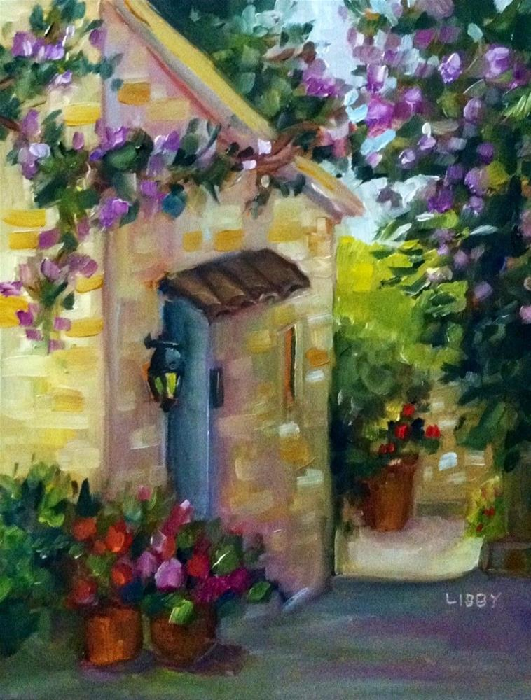 """In France"" original fine art by Libby Anderson"