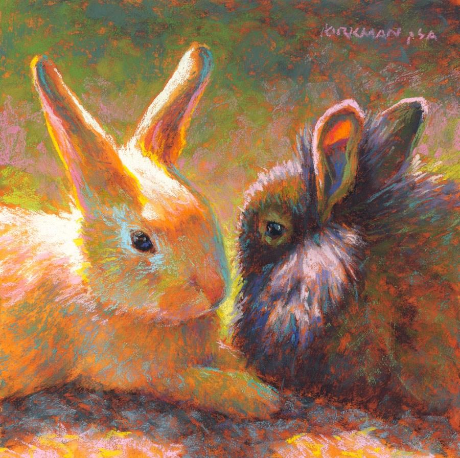 """Day 30 - Vanilla or Chocolate?"" original fine art by Rita Kirkman"