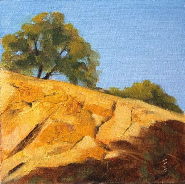"""Sun Kissed Rocks"" original fine art by Jane Frederick"