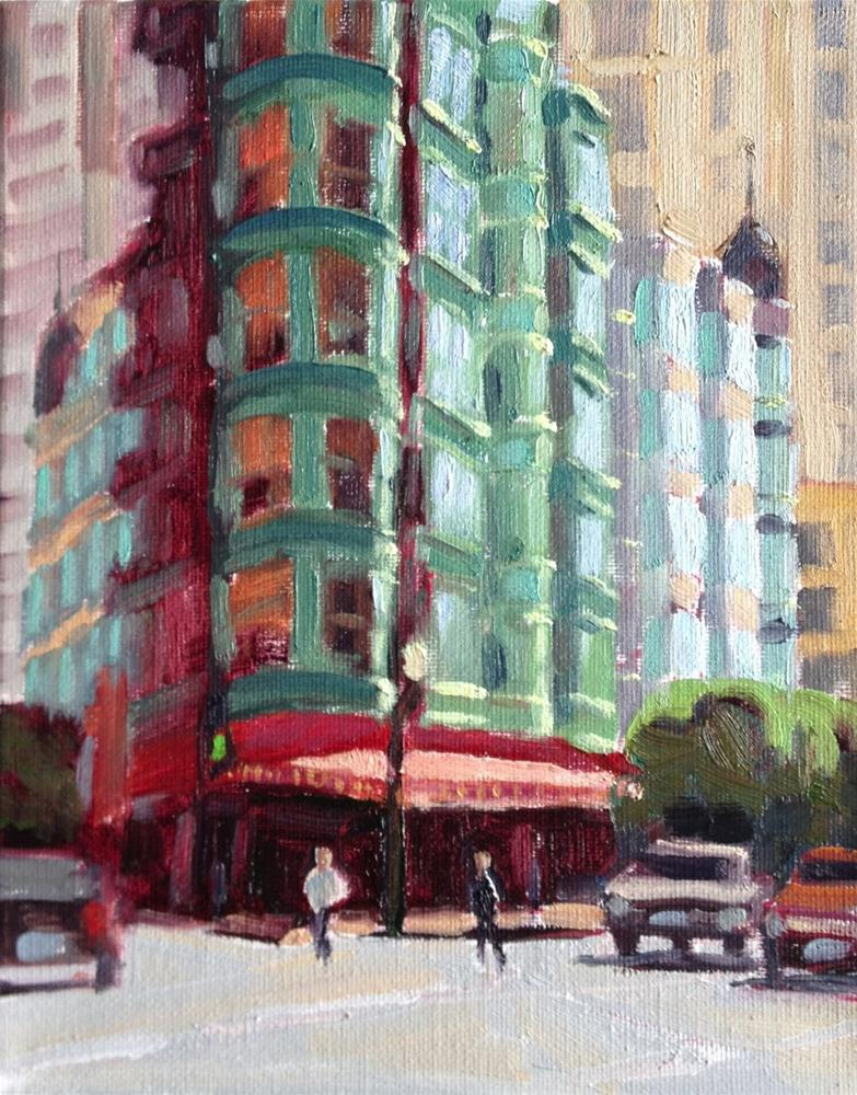 """North Beach"" original fine art by Deborah Newman"