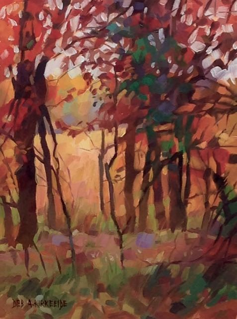 """Window In The Woods"" original fine art by Deborah Ann Kirkeeide"