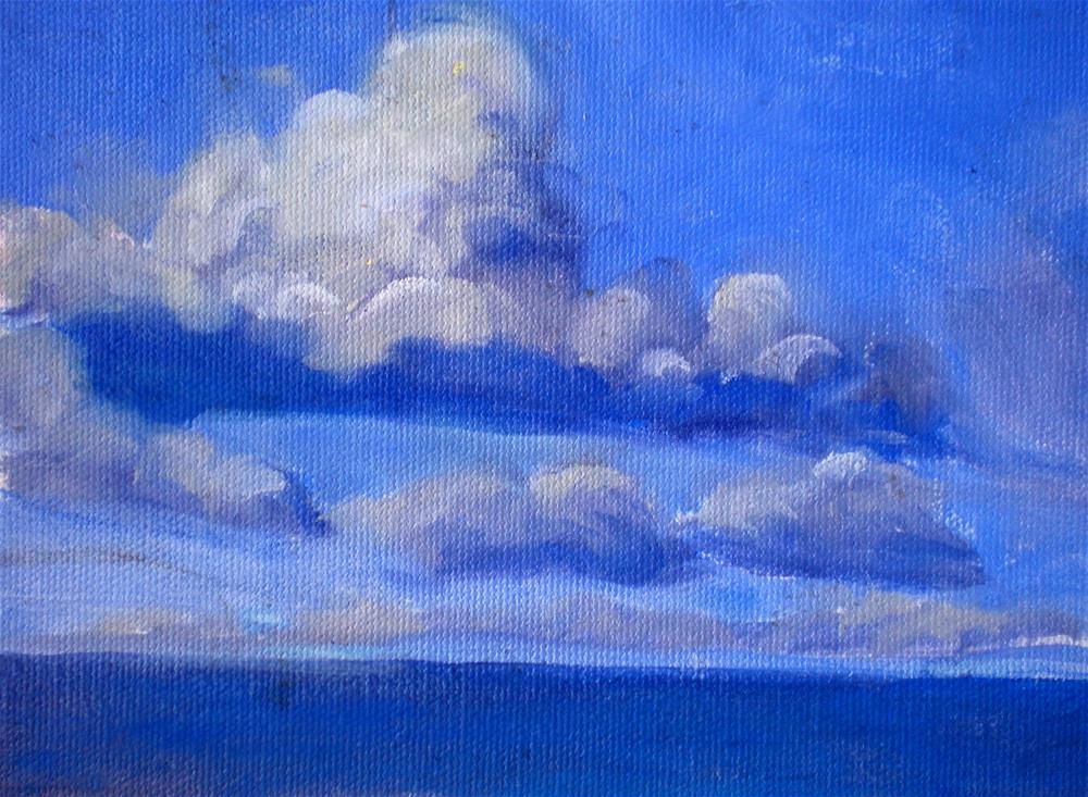 """Morning CLouds  - 150527s"" original fine art by richard rochkovsky"