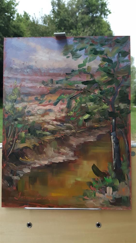 """From the Katy Trail"" original fine art by Tammie Dickerson"