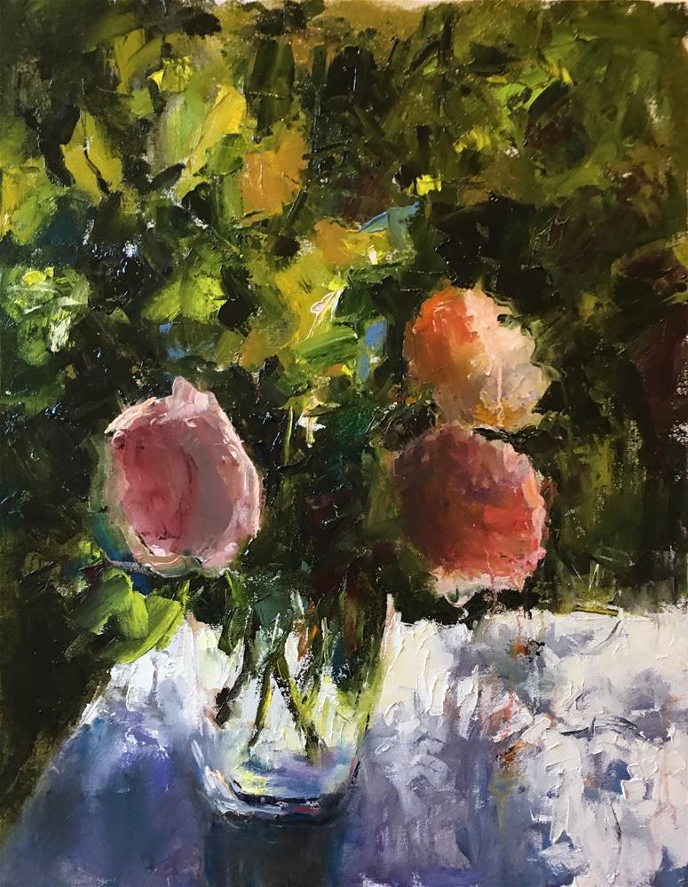 """Mood for Roses"" original fine art by pepa sand"