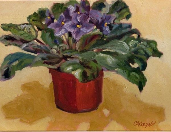 """Cast Shadows - Violet"" original fine art by Carolynn Doan"