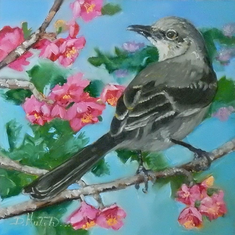 """""""Mocking Bird #1"""" original fine art by Diane Hutchinson"""