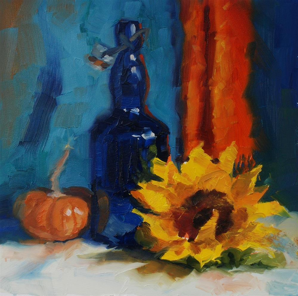 """No. 676 Don's Blue Bottle"" original fine art by Susan McManamen"