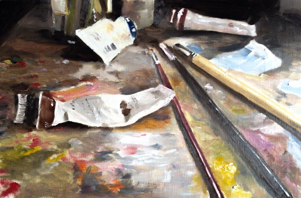 """""""A Painter's Lot"""" original fine art by James Coates"""