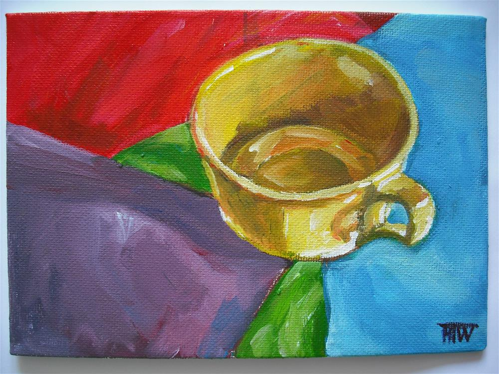 """""""Yellow Cup - Standing Out"""" original fine art by Heather Whiting"""