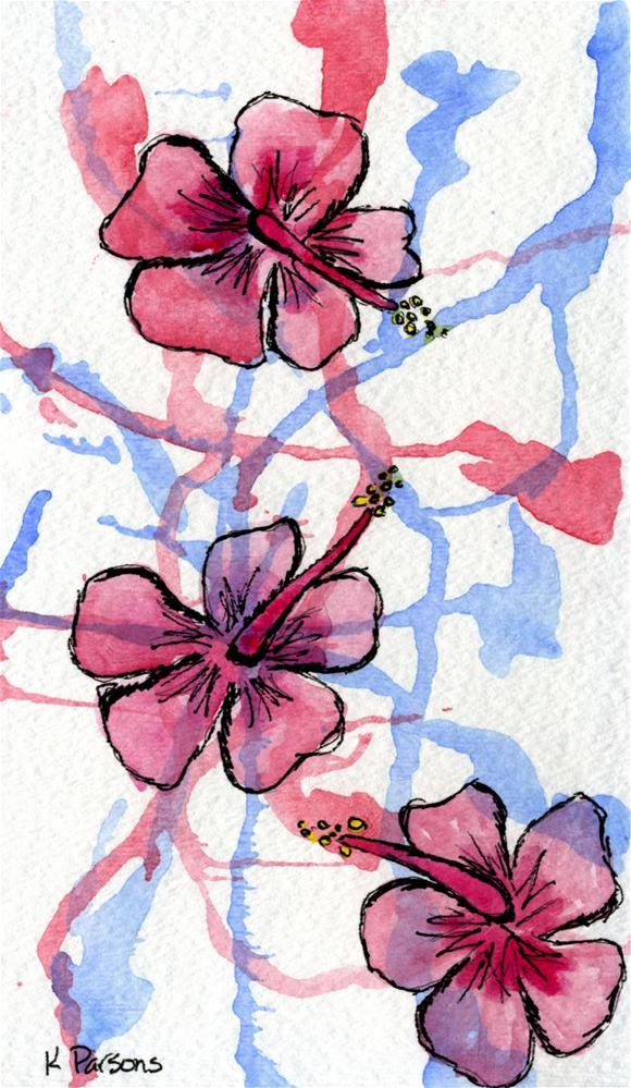 """Hibiscus Flowers"" original fine art by Kali Parsons"