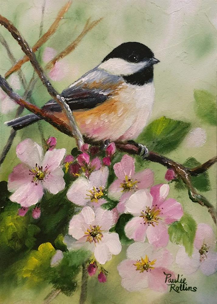 """""""Apple Blossoms 2"""" original fine art by Paulie Rollins"""