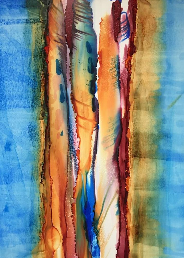 """Tree Bark, Study 3"" original fine art by Karen Wysopal"