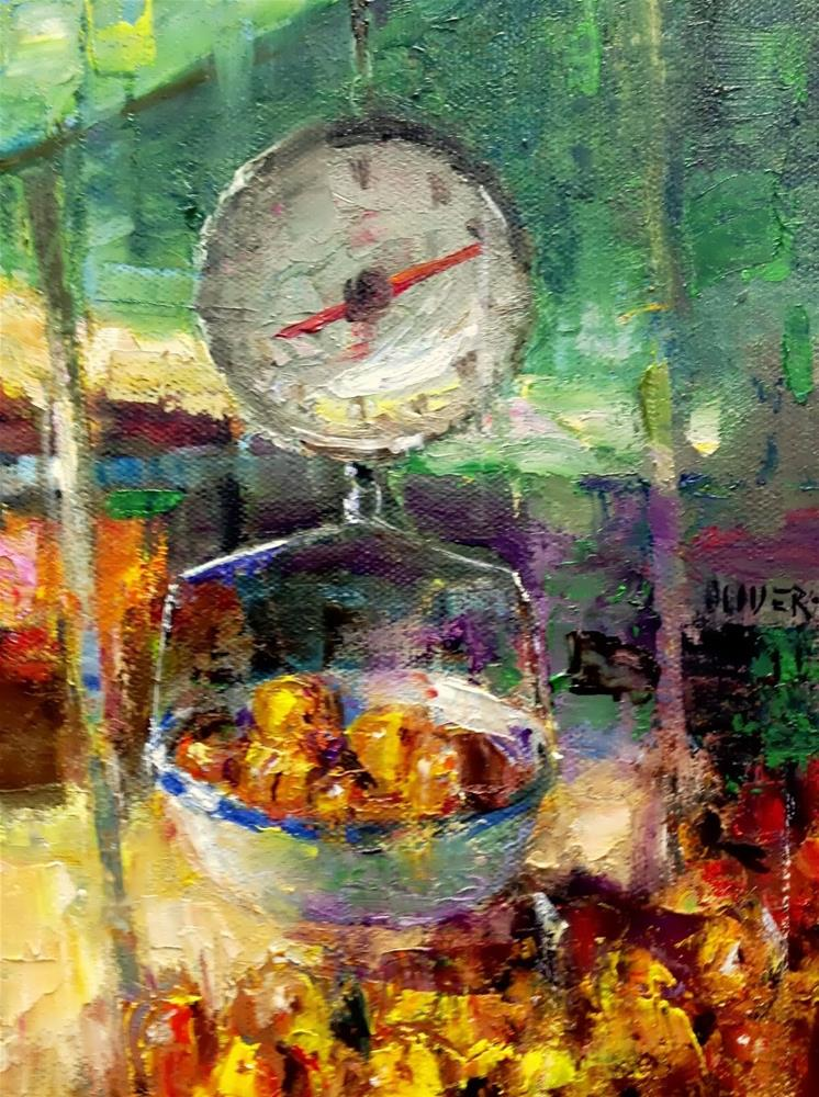 """Farmers Market Scale"" original fine art by Julie Ford Oliver"