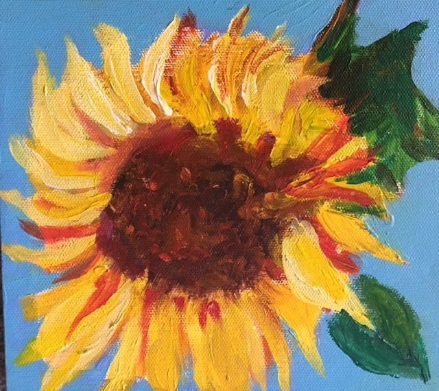 """SUNFLOWER"" original fine art by Sheila Clark Lundy"