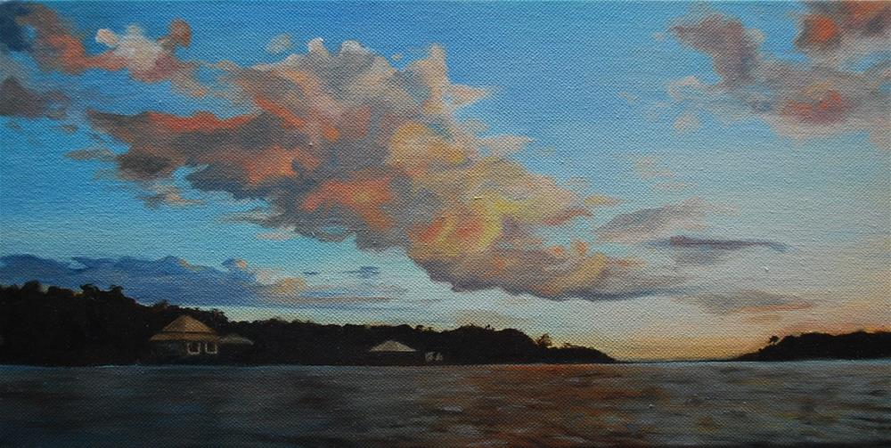 """Bon Secour sunset"" original fine art by Beverley Phillips"