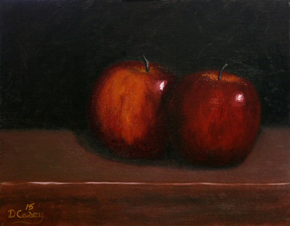 """30-in-30 Challenge – Day 02 – A Pair of Apples"" original fine art by Dave Casey"