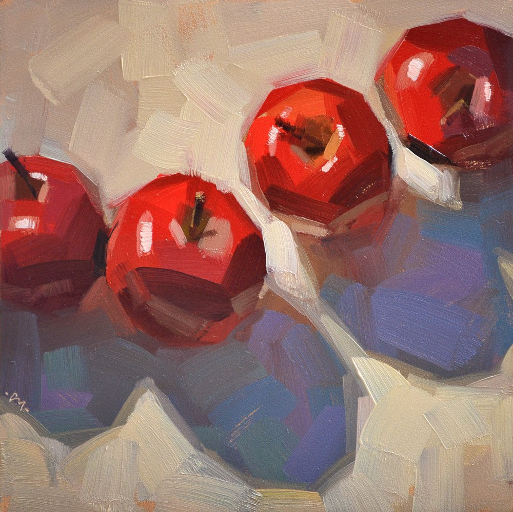 """Afternoon Apples"" original fine art by Carol Marine"
