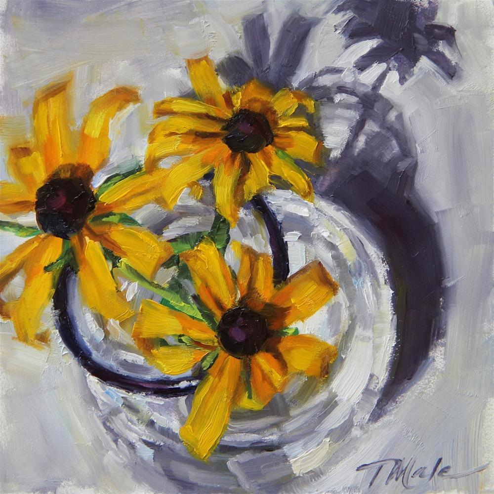 """Fresh Picked Daisies"" original fine art by Tracy Male"