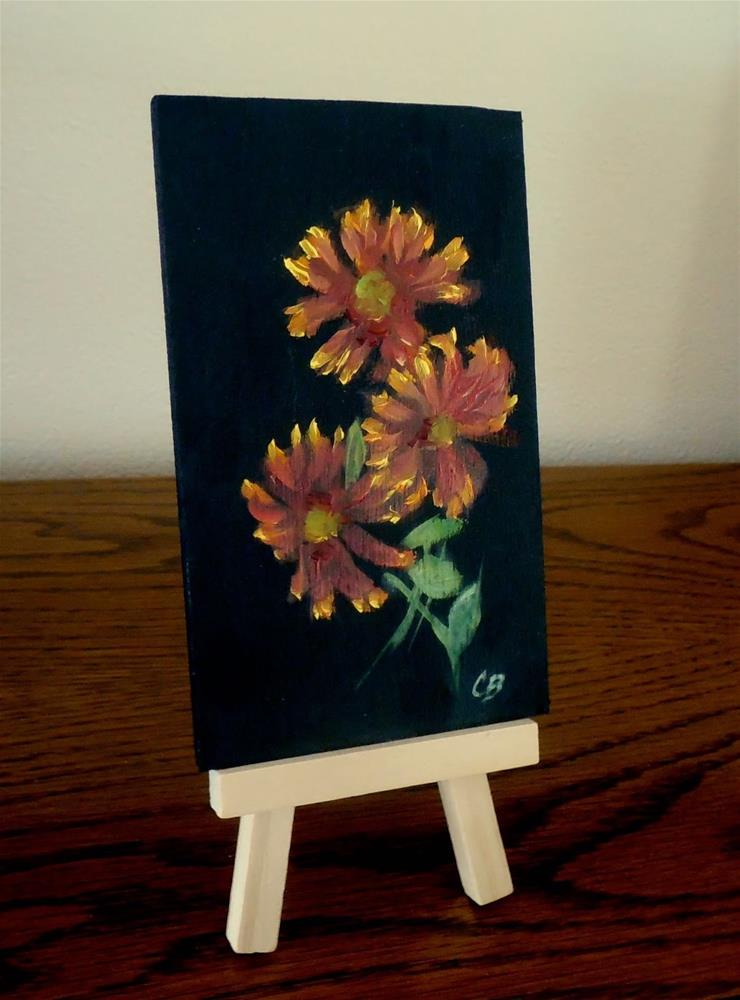 """Blanketflower, 3x5 Oil Painting on Wood Panel, Daily Painting"" original fine art by Carmen Beecher"