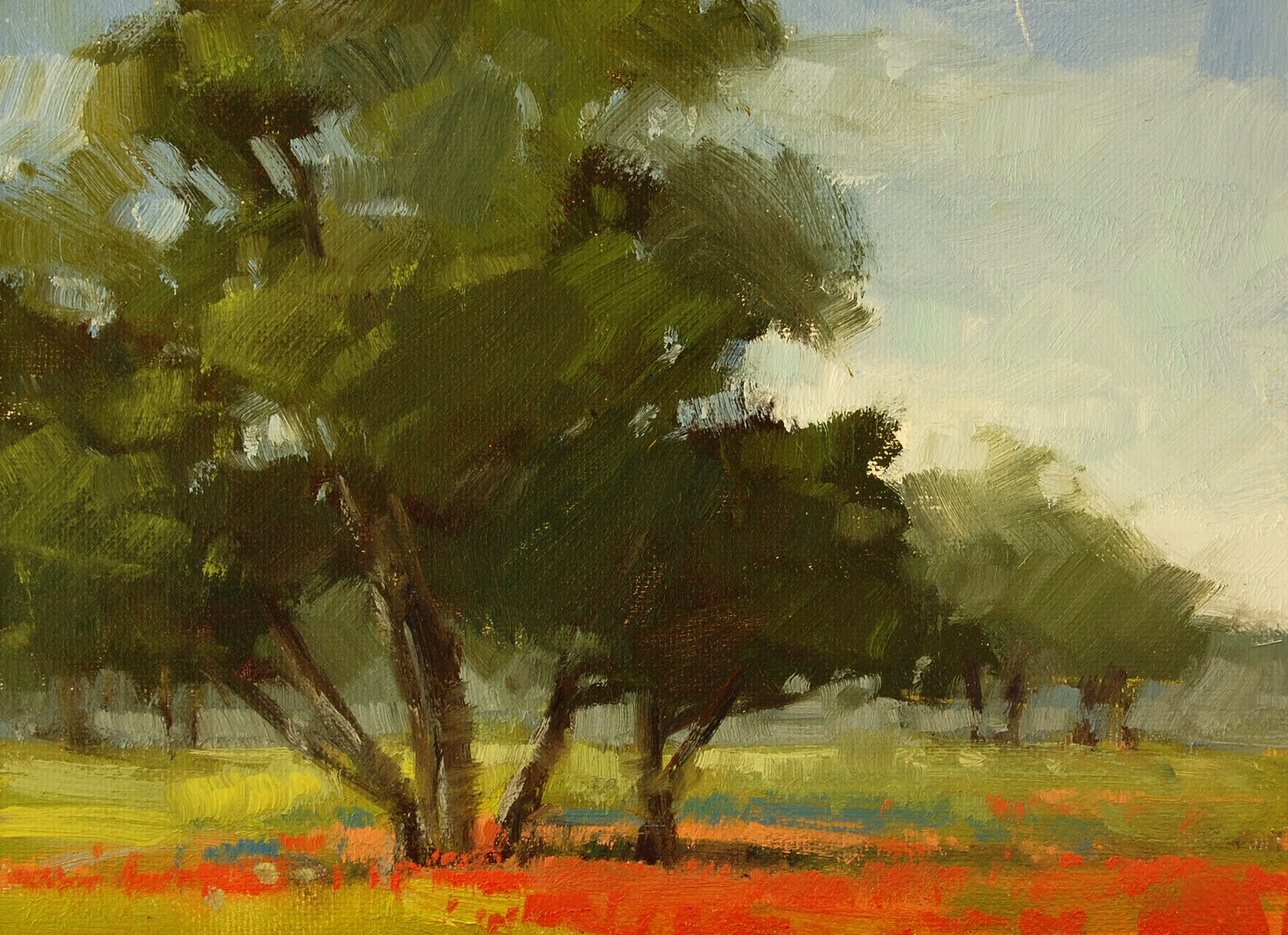 """Hill Country Color - 5 x 7 Art Splurge Show"" original fine art by Laurel Daniel"