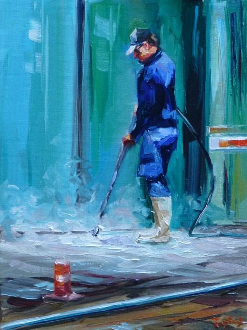 """""""waterjet"""" original fine art by Jurij Frey"""