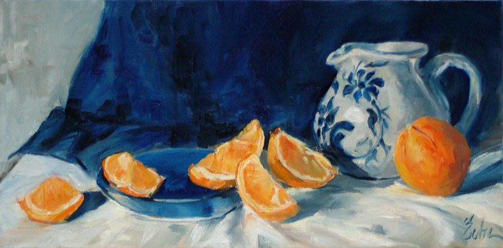 """Betschdorf et oranges"" original fine art by Evelyne Heimburger Evhe"