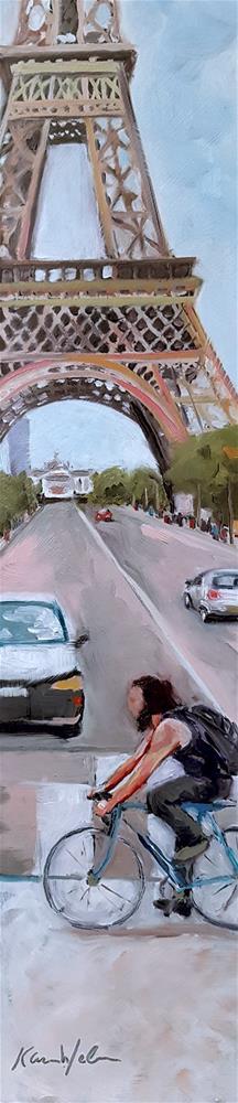 """""""Passing the Tower"""" original fine art by Karen Weber"""