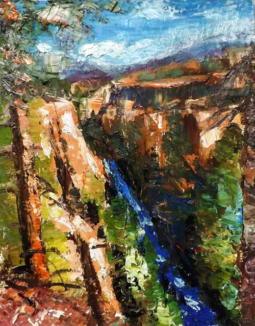 """yellowstone  national park"" original fine art by Run-      Zhang Zane"