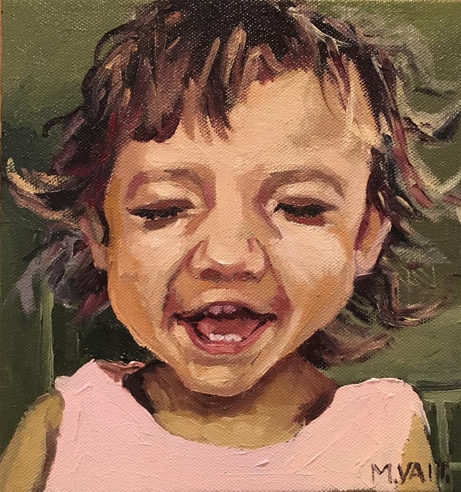 """Happy face"" original fine art by Milda Vaitiekunaite"