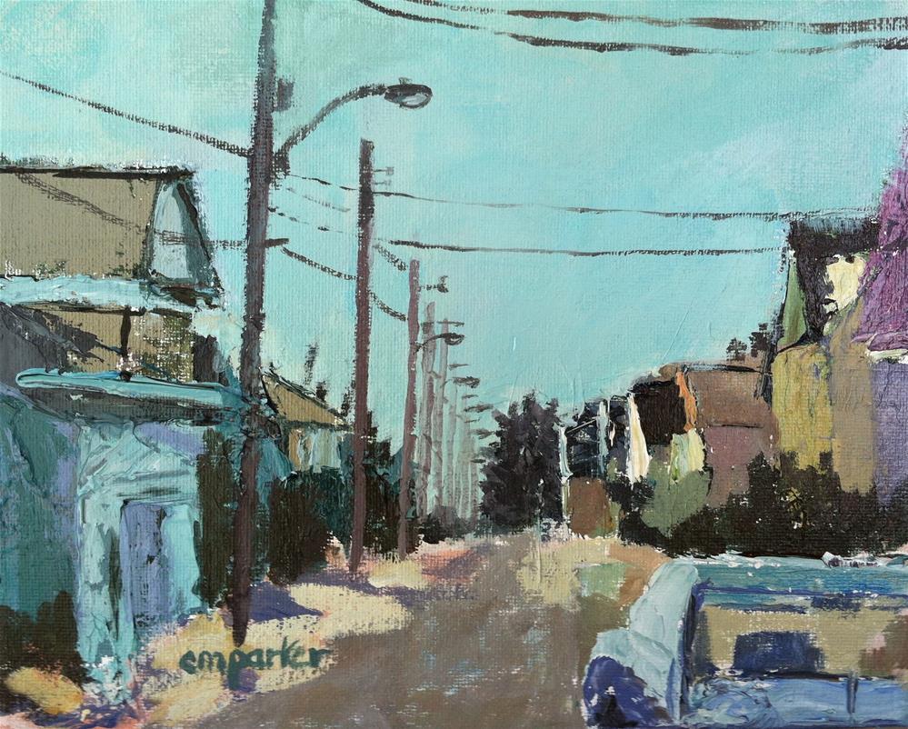 """Beach Houses 7/19/13"" original fine art by Christine Parker"