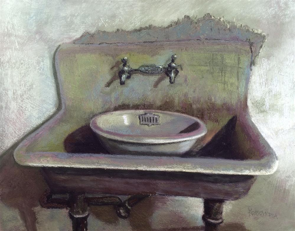 """Double Sink"" original fine art by Cristine Kossow"