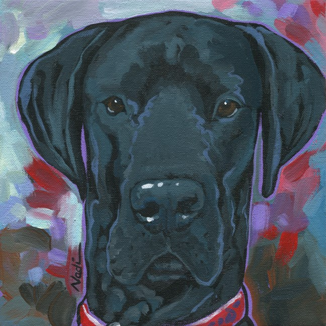 """Dozer"" original fine art by Nadi Spencer"