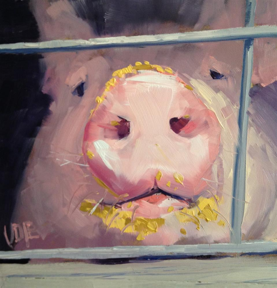"""#144 Pig Face"" original fine art by Patty Voje"
