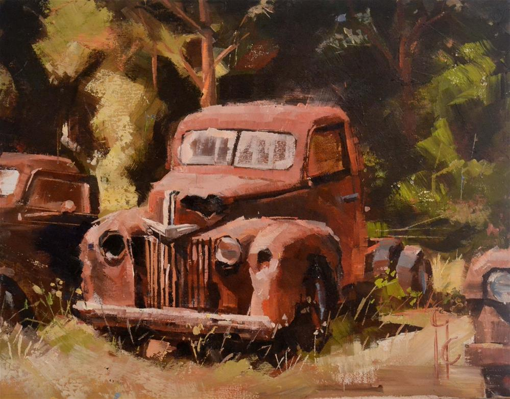 """Trusty Rusty"" original fine art by Garry Colby"
