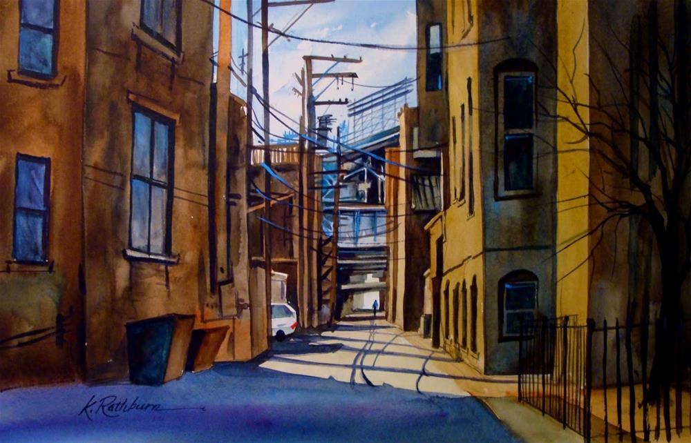 """Short Cut to the Ball Park"" original fine art by Kathy Los-Rathburn"