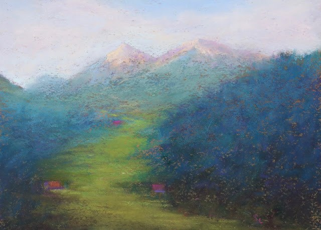 """Mountain Highway"" original fine art by Sharon Lewis"