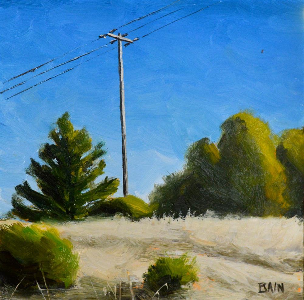 """Los Trancos Preserve"" original fine art by Peter Bain"