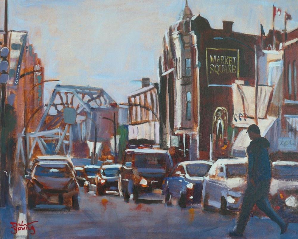 """""""881 Blue Bridge, acrylic on canvas, 16x20"""" original fine art by Darlene Young"""