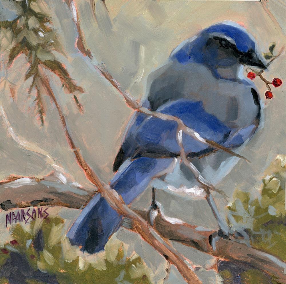 """Not One Step Closer"" original fine art by Nancy Parsons"