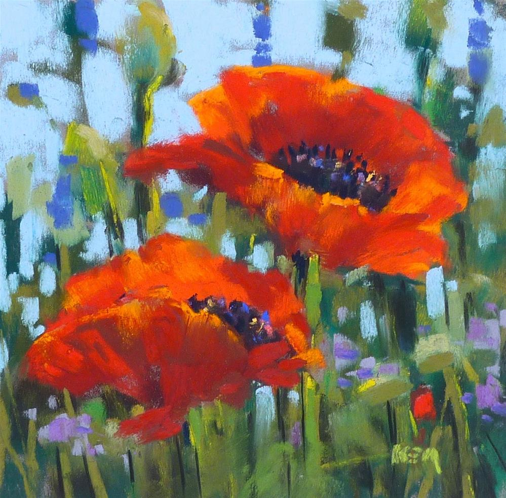 """Up Close and Personal with Wildflowers...The Red Poppy"" original fine art by Karen Margulis"