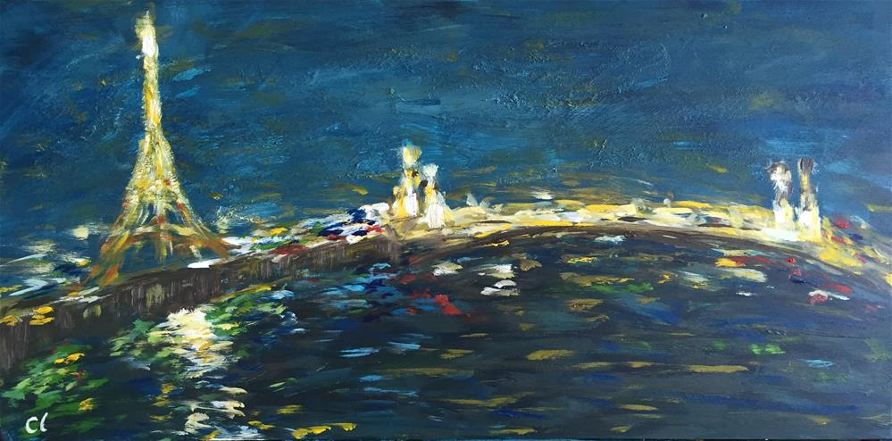 """Paris Night"" original fine art by Cheree Apalona Lueck"