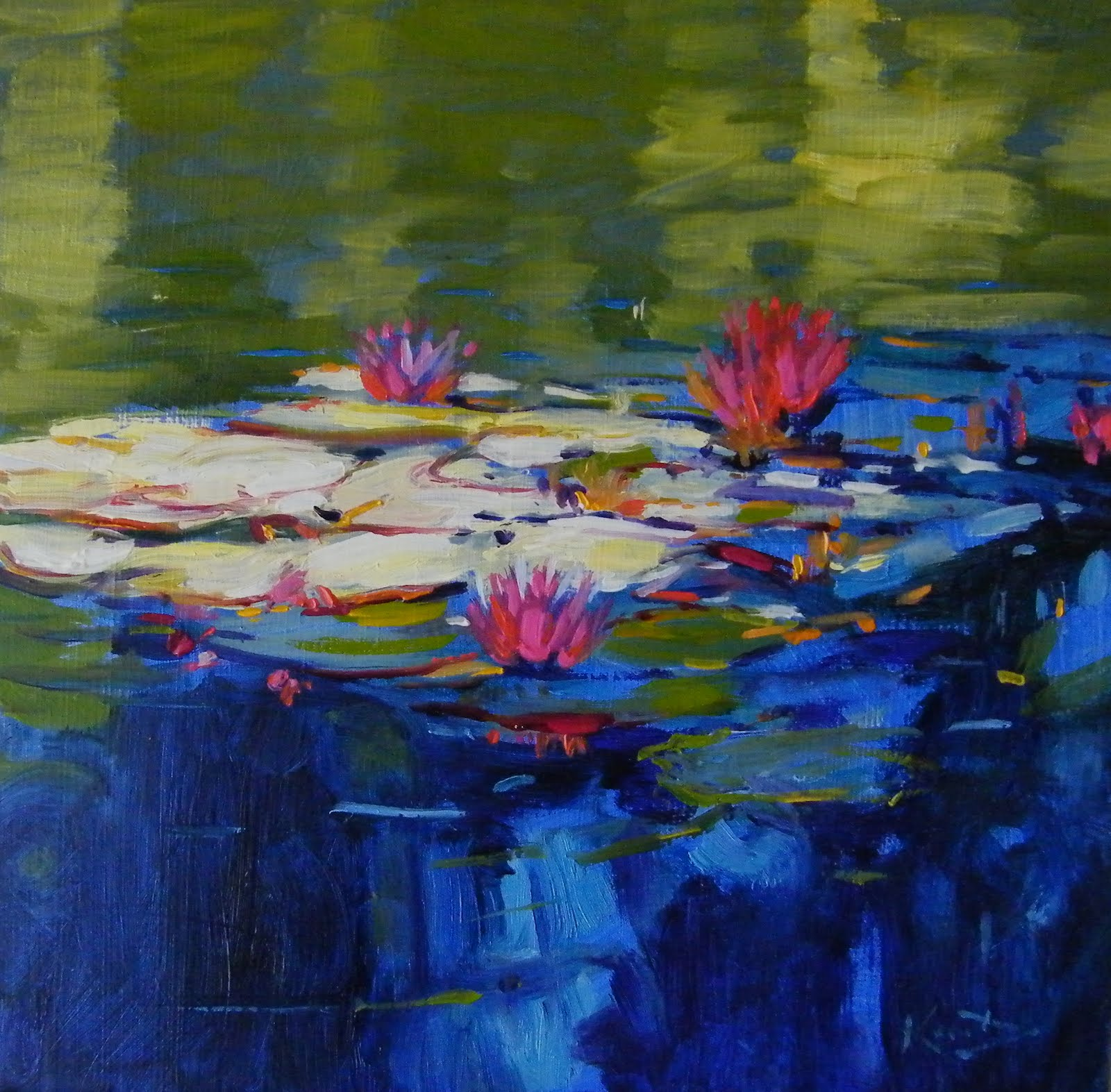 """Monet's Water Lilies"" original fine art by Ken Devine"